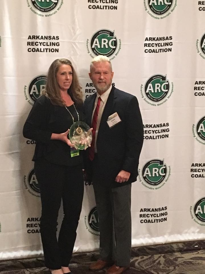 Recycle Saline Receives the Community Involvement Award from the Arkansas Recycling Coalition